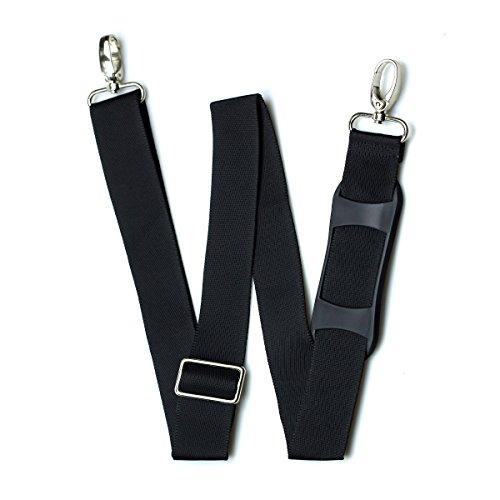 Hibate Replacement Adjustable Shoulder Strap Luggage Bag Belt - Black, Non-Slip Pad