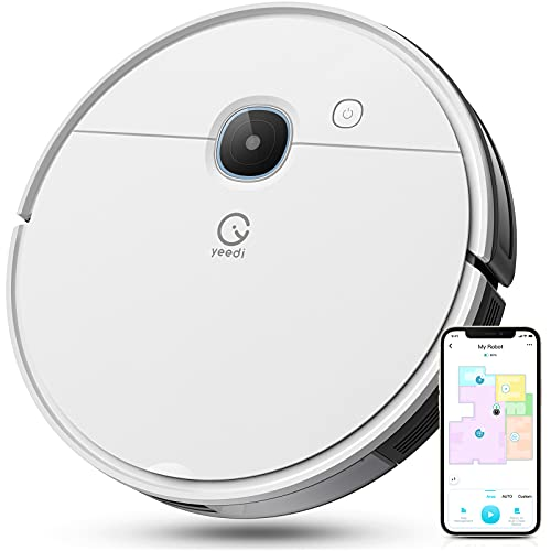yeedi vac Robot Vacuum, Compatible with Self-Empty Station and Mopping Modular, 3000Pa Suction Power, Carpet Detection, Smart Visual Mapping & Navigation, Editable Home Map, Virtual Boundary