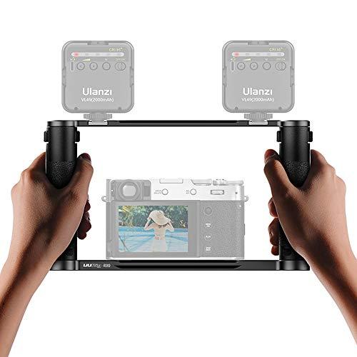 Linghuang R069 - Estabilizador universal de metal Vlog, empuñadura para Nikon Sony Canon Panasonic DSLR GoPro Hero 9 8 7 6 Black Smartphone Soporte Accesorios