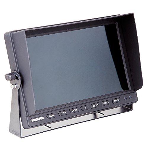 "VSG 10"" Quad Rückfahrmonitor/Heavy-Duty / 4 Videoeingänge / 12-24 Volt/extrem robust/Bildspiegelung/Kamerastromversorgung/e-Zulassung/Select-Serie"