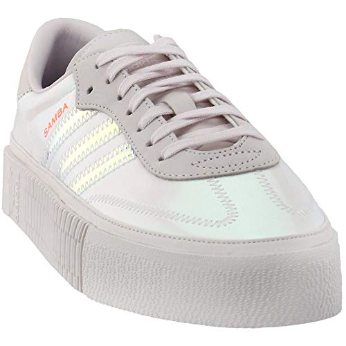 adidas Womens Sambarose Casual Sneakers, Off White, 6.5