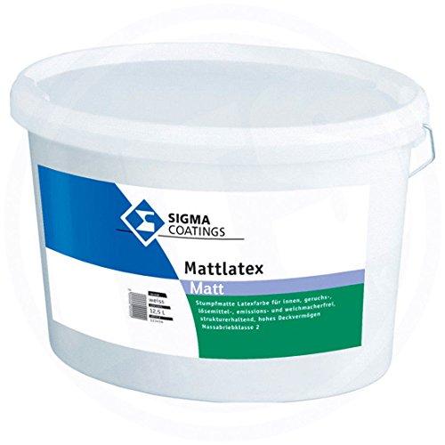 Sigma Coatings Innenfarbe Wandfarbe Farbe Weiß Matt 12,5 L Latexfarbe Mattlatex