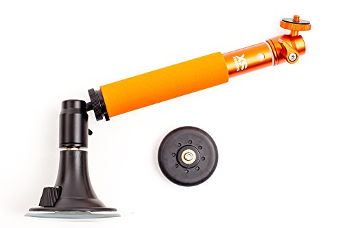 XSories Fix/Tilt & Shoot Camera Mount System, Magnet and Suction Mounts, Detachable Angle Adjuster, Telescopic Pole, Fits All Nikon, Canon, Digital Cameras, Camera Mounts, Camera Accessories (Orange)