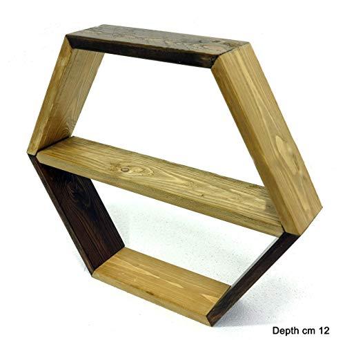 n. 1 Scaffale esagonale personalizzabile e componibile, mensola a nido d'ape a...