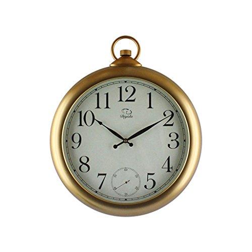 Fashion Wall Clock Salon Chambre Creative AN Horloge murale Mute Salon Rétro horloge murale Chambre à coucher Horloge (Couleur : 1#, taille : 46cm)