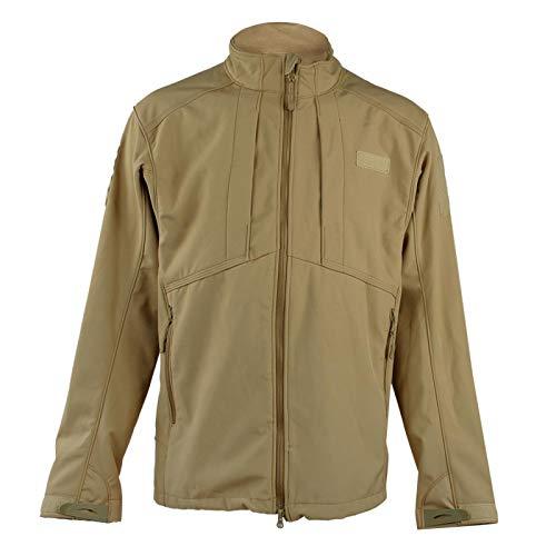 Shipenophy Outdoor Sports Jacket Waterproof Jacket Rainproof,for Mountain Climbing(Khaki, S)