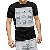 igsticker プリント Tシャツ メンズ 3XL size サイズ おしゃれ クルーネック 黒 ブラック t-shirt 016168 ドライブレコーダー