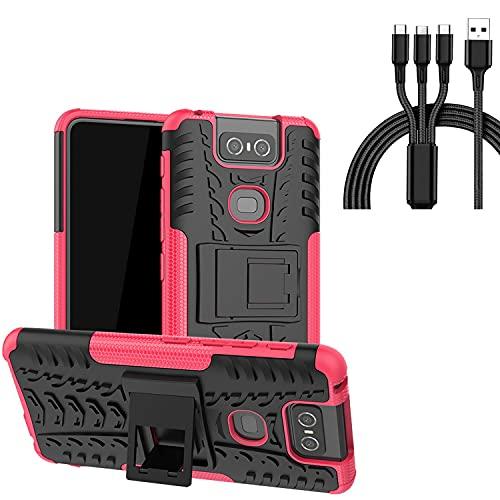 ASUS Zenfone 2 Laser ZE601KL - Funda para teléfono celular con carcasa y cable de carga tres en uno para Zenfone 2 Laser ZE601KL (6 pulgadas)