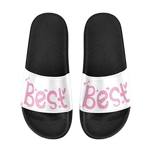 INTERESTPRINT Best Sister Ever Men Shower Shoes Lightweight Casual Walking Slide Sandals US13