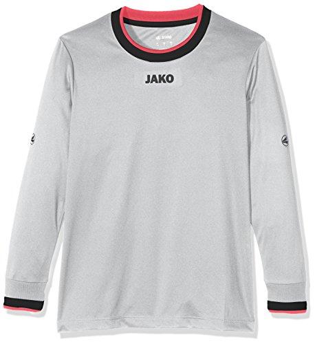 JAKO Kinder Fußballtrikots LA Trikot United, Grau/Schwarz/Pink, 140