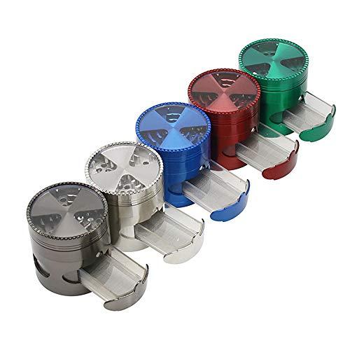 TongBao Rectificadora Rectificadora de Metales Rectificadora portátil de 4 Capas de Dientes de Metal Amoladora con Espacio para cajones Rectificadora de 2.5 Pulgadas (63 mm)