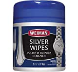 Weiman Jewelry Polish Cleaner and Tarnish Remover Wipes - 20 Count - Use on Silver Jewelry Antique...