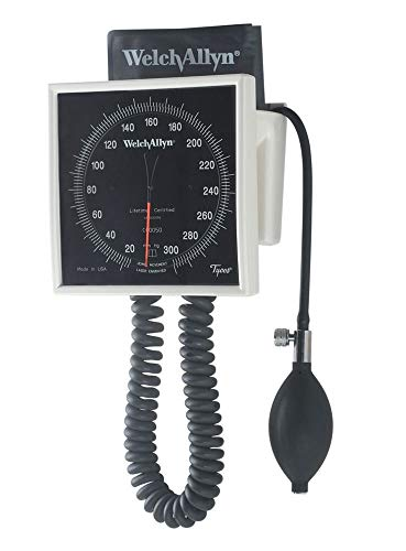 Welch Allyn Tycos 767 Series Mobile Aneroid w/ Durable One-Piece Adult Cuff and Standard Base Tycos 767 Wall and Mobile Aneroids, 1/Ea,WEL7670-03
