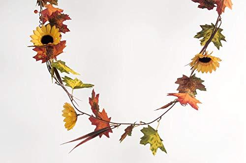 Herbst-Girlande mit Sonnenblumen