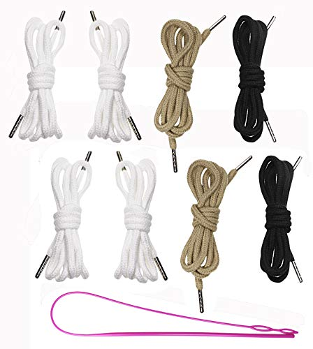 Penta Angel Drawstring 8 Pieces 53Inch 5mm Diameter Replacements Drawstring Cords Strings with Easy Threader for Running Shorts Sweatpants Pants Jackets Coats Swim Trunks Shoes Laces Tote Bag