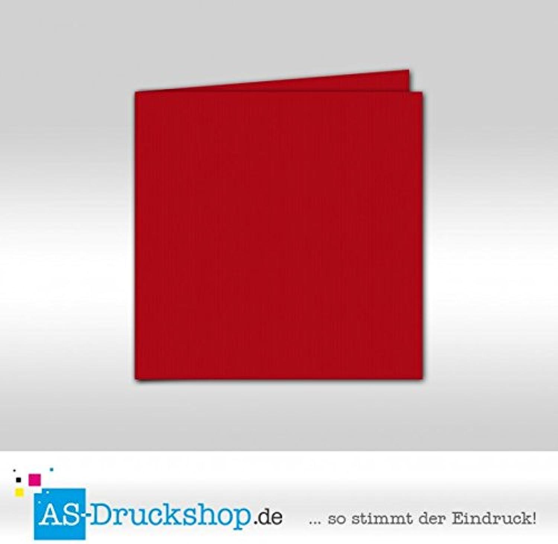 Faltkarte Doppelkarte - rot 100 Stück Quadratisch 157 x 157 mm B0794ZFJ8S | 2019