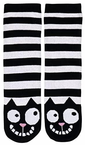 Ed the Cat Kuschelsocken | für Schuhgröße 36-42 geeignet | Sohle mit kontrastfarbenen Antirutsch-Noppen
