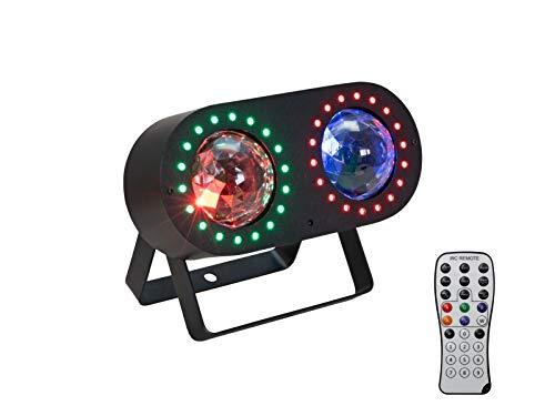 EUROLITE LED DMF-3 Hybrid Flowereffekt   Effektscheinwerfer mit Flower- und Stroboskop-Effekt, inkl. IR-Fernbedienung
