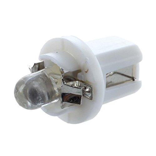 REFURBISHHOUSE 10 x T5 LED luz Bombilla luz Blanca de Calibre medidor salpicadero B8-5D Luces de Coche 12V 6000K-6500K
