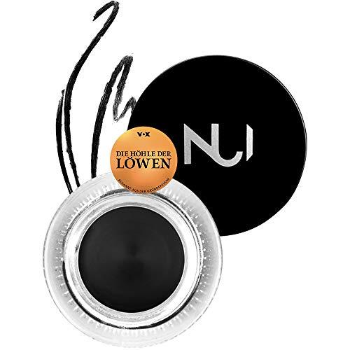NUI Cosmetics Natural Cream Gel Eyeliner MANAIA - Naturkosmetik vegan natürlich glutenfrei - schwarzer, wasserfester Gel Eyeliner für einen präzisen Lidstrich