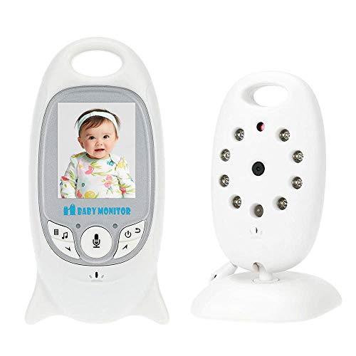 Babá Eletrônica Câmera Monitor Sem Fio Visão Noturna Lcd com Termômetro