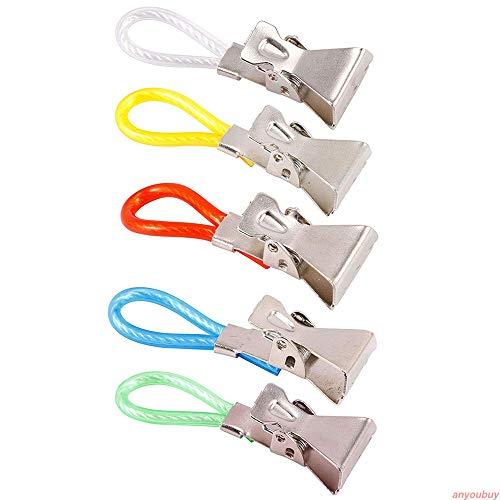 5pcs Durable Tea Towel Hanging Clips Clip on Hook Loops Hand Towel Hangers -AO24