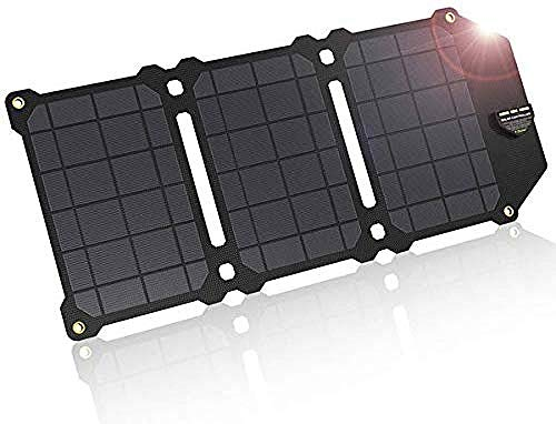 ZSPSHOP 21W Solar Ladegerät Faltbare Handy Dual USB 5V 4A Solar Panel ETFE wasserdichte Outdoor Portable Für Smartphones Kamera Camping Travel