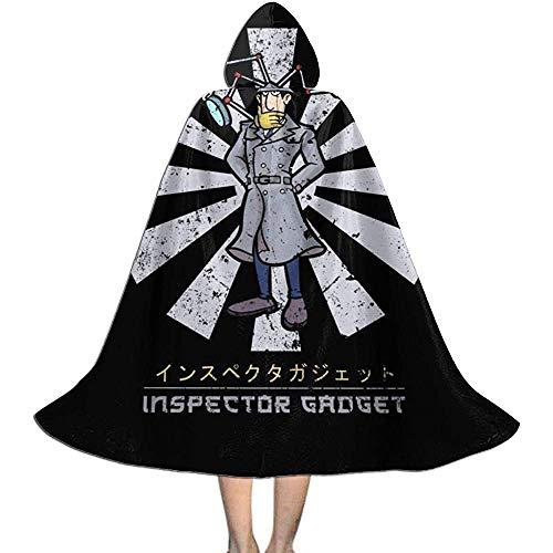 Niet toepasbare pet met capuchon, hekmagische omhanging, volwassene luxe omhang,inspector gadget retro Japanse heks tovers, Halloween-party decoratie outwear, vampiergordijn.