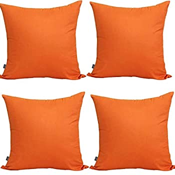Best orange throw pillow covers Reviews