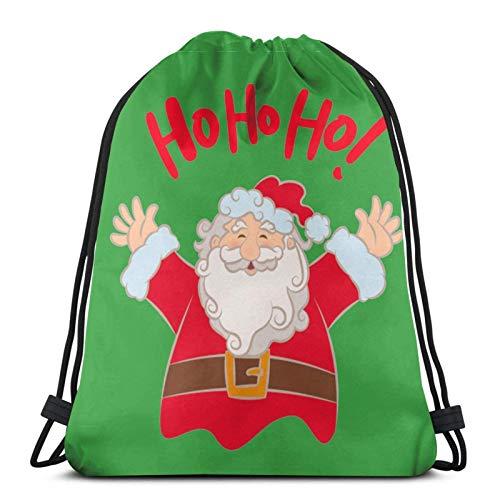 Drawstring Bags Merry Christmas Ho Ho Ho Unisex Drawstring Bapa Sports Bag Rope Bag Big Bag Drawstring Tote Bag Gym Bapa in Bulk