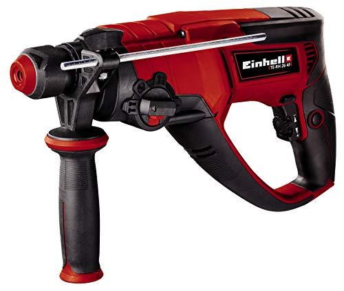 Einhell Bohrhammer TE-RH 26 4F (800 W, Schlagzahl 0-4.500/Min, 2,6 Joule, pneumatisches Schlagwerk, SDS-plus-Werkzeugaufnahme, Metall-Bohrtiefenanschlag, inkl. E-Box)