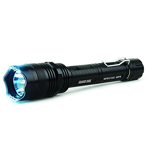 Guard Dog Security Special Ops Stun Gun Flashlight with Concealed Stun Technology - Self-Defense Tool with Glass-Breaker, Rechargeable