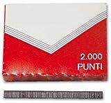 Punti per Cucitrice Puntatrice Fissatrice Da Ufficio (10 Scatoline Da 2000 Pz)