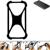 K-S-Trade Handyhülle für Meizu Pro 6S Schutz Hülle Silikon Bumper Cover Case Silikoncase TPU Softcase Schutzhülle Smartphone Stoßschutz, schwarz (1x)