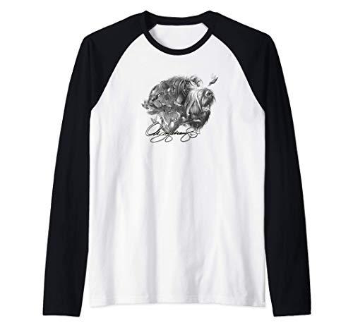 Camisa de Griffon Señalador Wirehaired Camiseta Manga Raglan