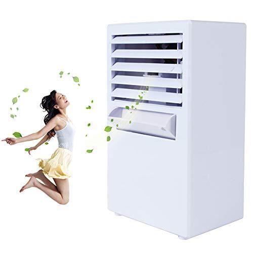GonbObcxggr Climatiseur Mobile Silencieux sans Evacuation Exterieur Portable Refroidisseur d'air Humidificateur avec Réservoir d'eau 3 Vitesses pour Home Office Dorm,Blanc
