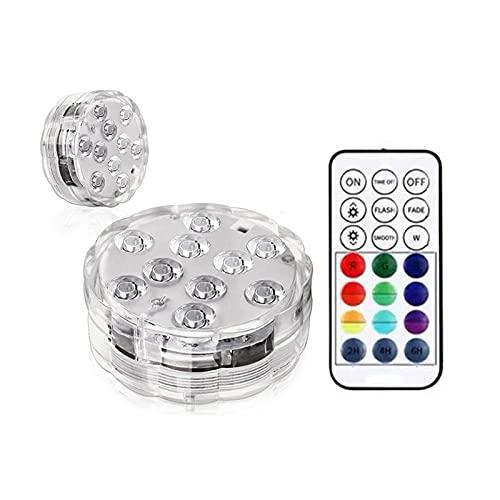 Dompelbaar LED Lichte batterij geëxploiteerd met afstandsbediening 16 RGB Kleuren IP68 Waterdichte zwembadverlichting…