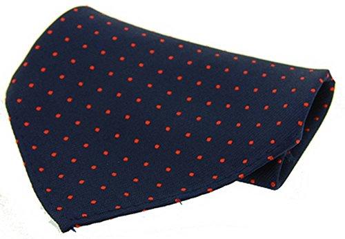 David Van Hagen Marine/mouchoir rouge Pin Dot Soie de