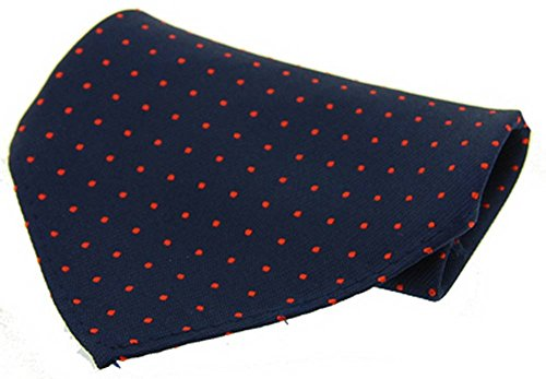 David Van Hagen Marine/mouchoir rouge Pin Dot Soie de