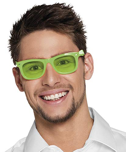 TH-MP 80er 90er Jahre Brille Sonnenbrille Party Outfit Mottoparty Nerdbrille Retro neon grün