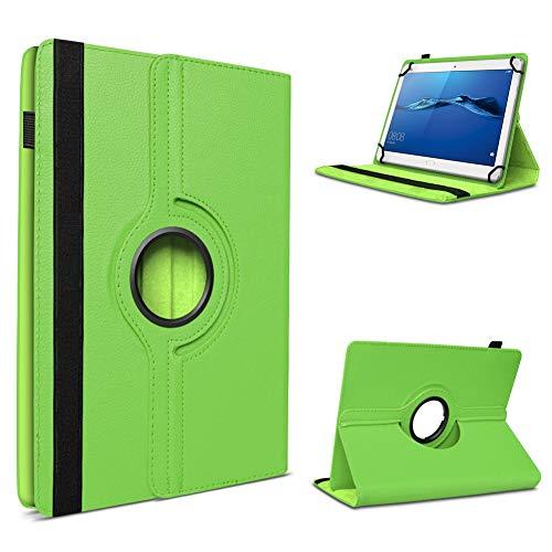 UC-Express Robuste Tablet Schutzhülle für Huawei MediaPad T1 T2 T3 10.0 aus Kunstleder Hülle Tasche Standfunktion 360° Drehbar Cover Case Universal, Farben:Grün