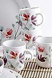 Kahla 57G157A50664C Heyday 16tlg. Kombiservice Porzellan 4-Personen Frühstücksset mit Blumendekor - 5