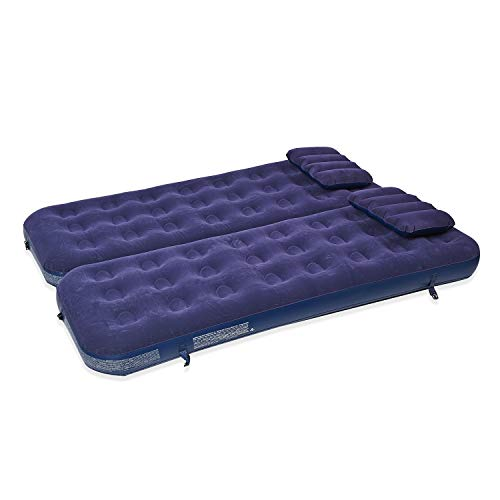 TJC 3 in 1 Inflatable Airbed Mattress with 2 Pillows (Size 191x73x22 Cm)