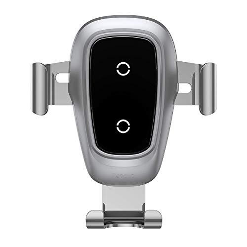 Baseus Cargador Inalámbrico Coche,QI Cargador Coche Carga Rápida con Rejillas del Aire, Automático 360 ° con Base de Carga para iPhone 11 Pro/X / 8/8 Plus, Samsung Galaxy S9 S8, Huawei Mate 20 Pro