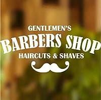 Mingld 理髪店看板壁デカールヘア男性サロン窓ビニールサインステッカーレタリング理髪店の壁の装飾アート壁画30×60センチ