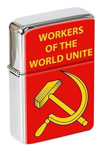 Lavoratori Of The World Unite Falce e Martello Accendino