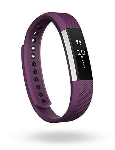 Fitbit Alta Fitness Tracker, Silver/Plum, Large (International Version)