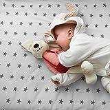 4 x sábana Bajera Ajustable Compatible con Chicco Next 2 Me 100% algodón – Estrellas