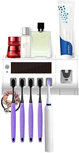Tandenborstelhouder Electric UV Tandenborstel Sterilisator Holder En Automatische Tandpasta Dispenser Set Best Gift for familie badkamer Wall Mounted 8bayfa