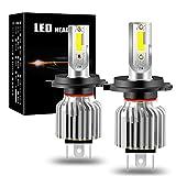 yifengshun H4 9003 HB2 Car LED Headlight Bulb Alto brillo Faros Bombillas COB Chip Xenón Blanco 6500K 60W Bombillas para Coche Kit de Conversión